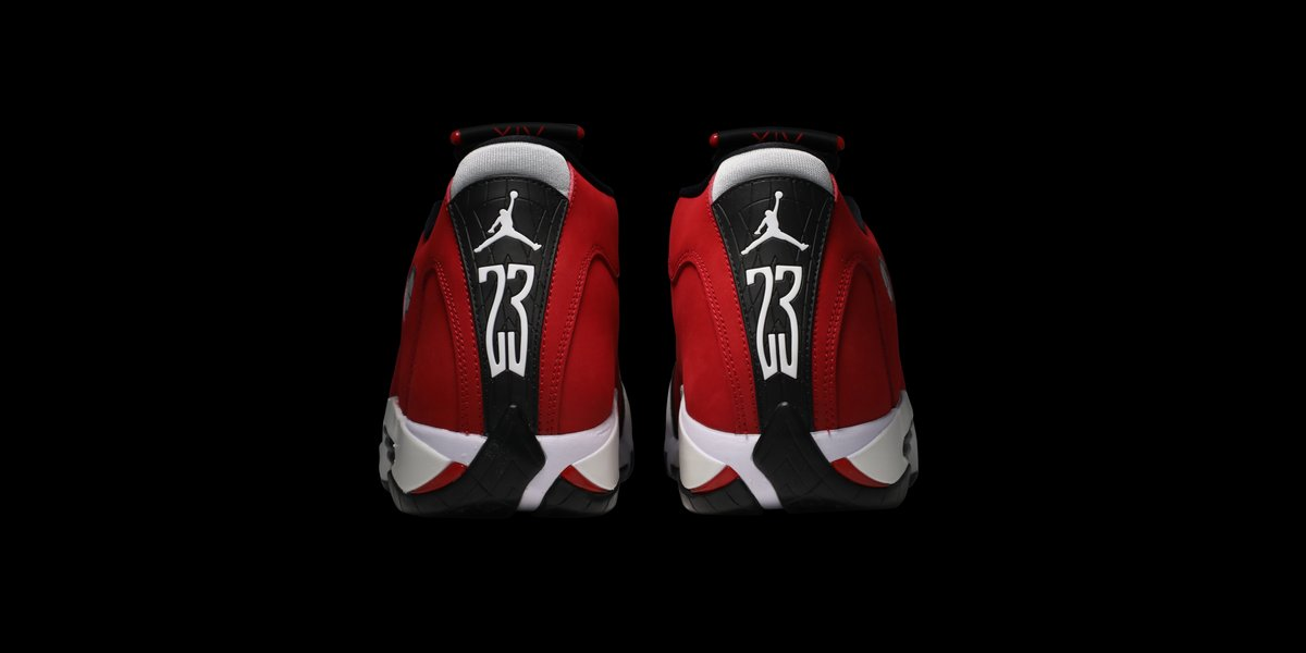 MJ wore the AJ14 when hitting 'The Last Shot,' cementing his sixth championship. This new 'Gym Red' iteration features a Chicago Bulls color palette, with Gym Red nubuck uppers blending seamlessly with black and white details. Available on the app: https://t.co/CWXqxZSi9x https://t.co/ebiigLnWMH