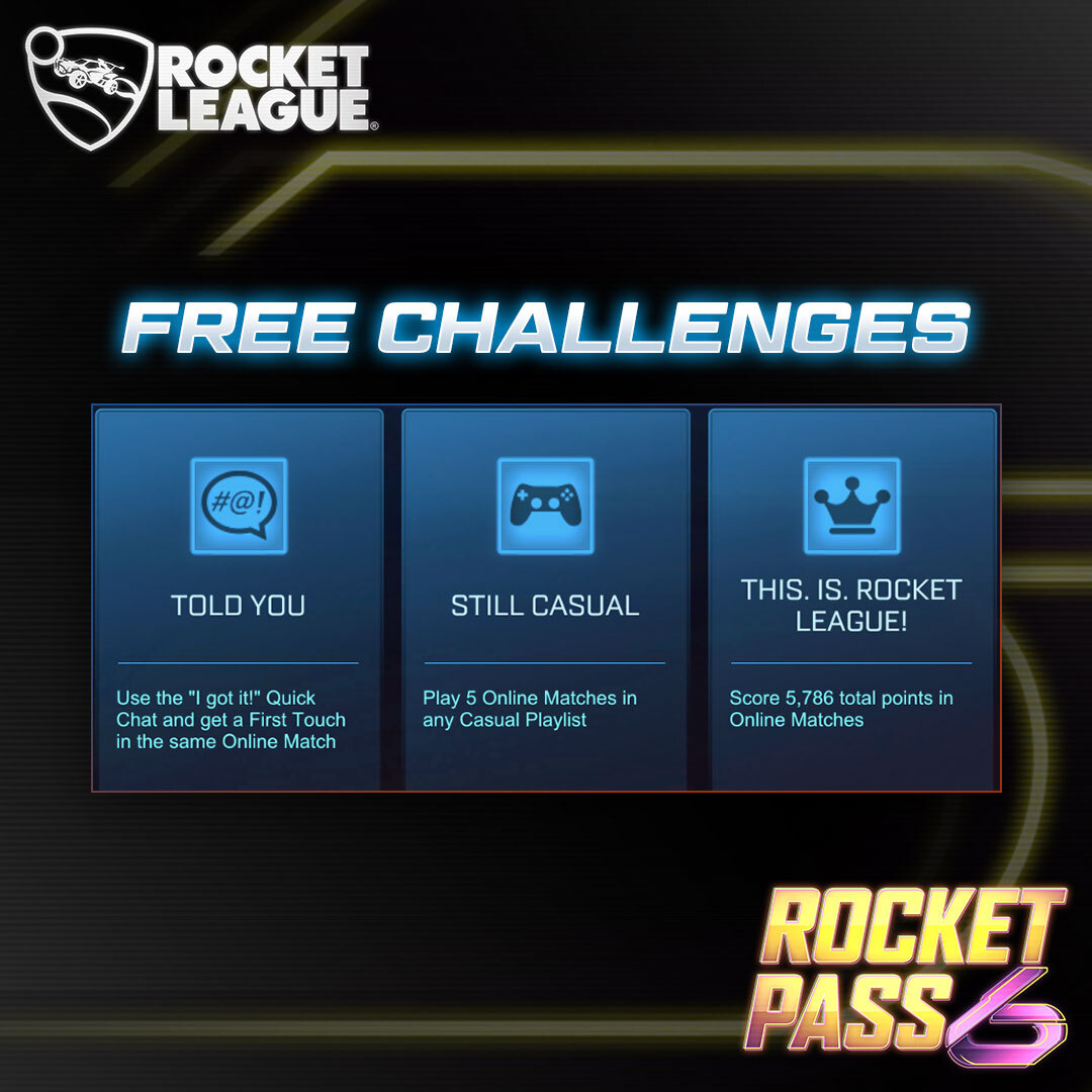 Its the final week of #RocketPass6 Challenges! Did you complete them all??