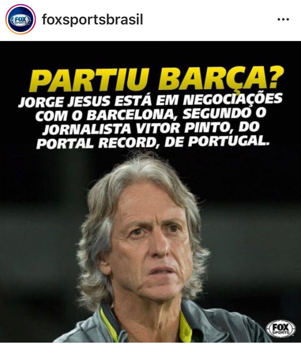 #Foxlixo cavando novamente a saída do Jorge Jesus do Flamengo. Os caras não cansam!