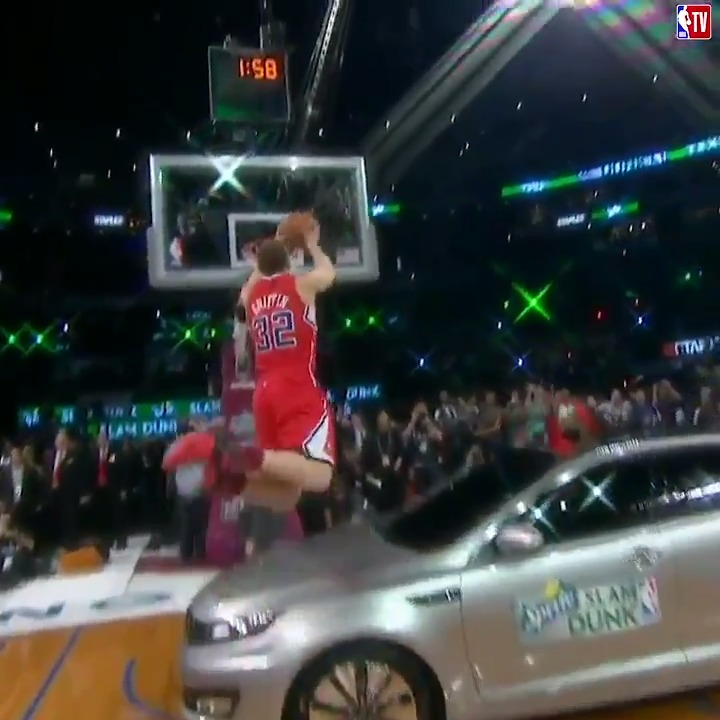 That time Blake Griffin jumped over a car 😱  2011 Dunk Contest - 6:00pm ET on NBA TV! https://t.co/clY4xGeUy3