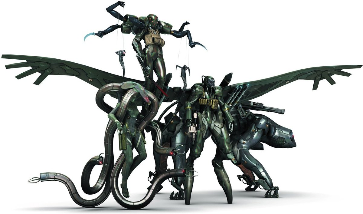 I've always really loved the designs of the Beauty and the Beast unit from MGS4. Great stuff. <br>http://pic.twitter.com/SehLJ5AIEZ