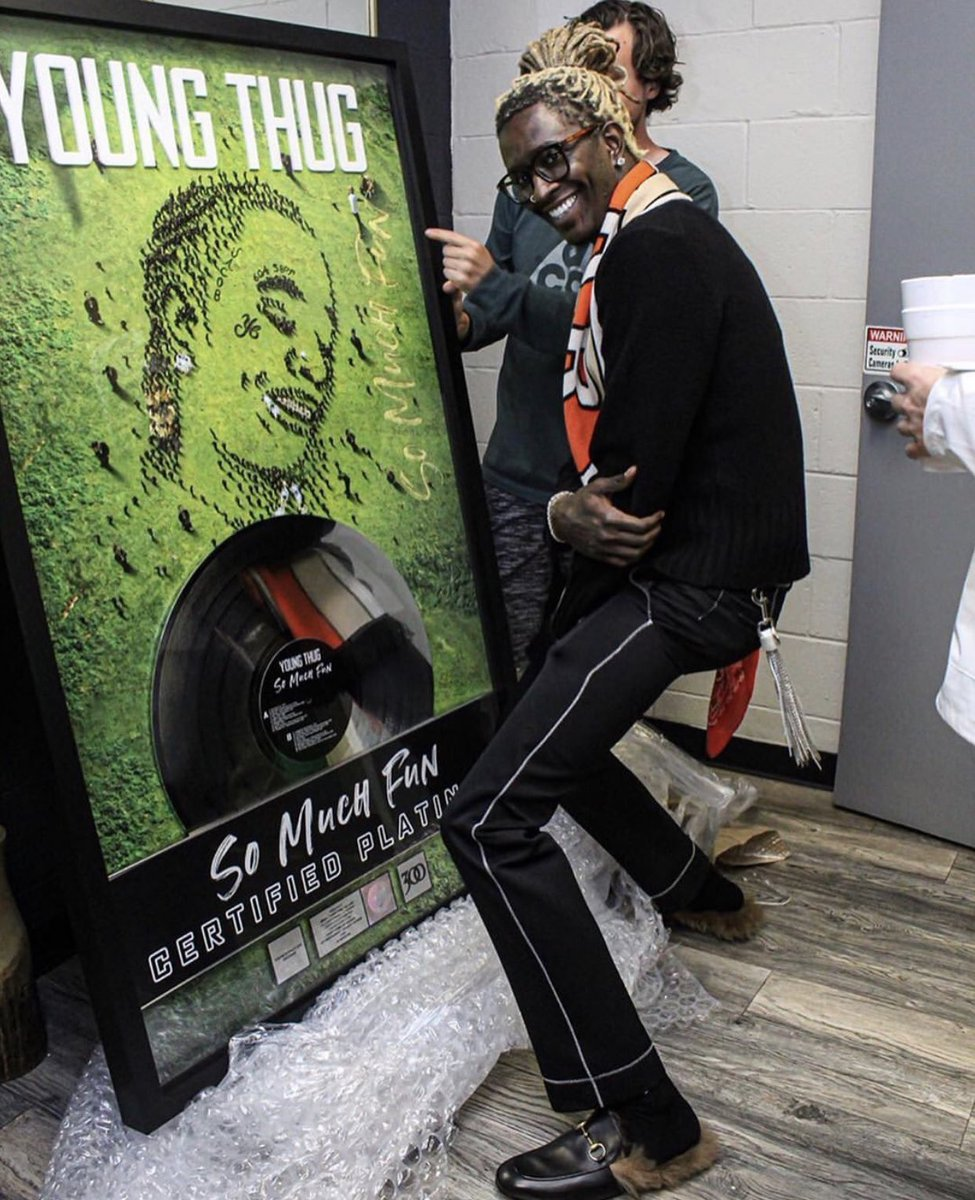 """Young Thug's debut album """"So Much Fun"""" is certified platinum making it his first platinum project. 💿👏🏾 https://t.co/rPjeFIC9oP"""