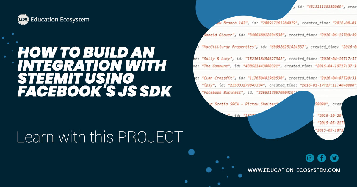 Learn How to Build an integration with Steemit using Facebook's JS SDK #100daysofcode #learntocode #codinglife #learntocode #onlinelearning #webdev #appdeveloper #devcommunity #js #javascript |  https://www. education-ecosystem.com/h3xadecimal/l9 MEW-how-to-build-on-facebooks-js-sdk-and-tying-pages-and-page-interactions/b9zDV-edu-eco-1-1-intro/  … <br>http://pic.twitter.com/4HMX1Wo3tx