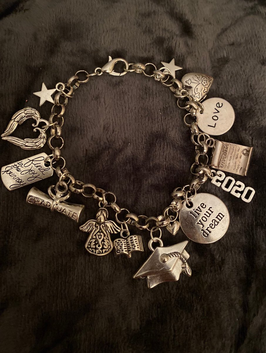 Still looking for a graduation present?  Get this handmade Deluxe Graduation Charm Bracelet with 14 Charms! You can personalize it, too! https://t.co/1D9h49am1I #Graduation2020 #graduatetogether #etsy #etsyshop #EtsySocial #etsyfinds  #etsysale https://t.co/OJbbrECRpY