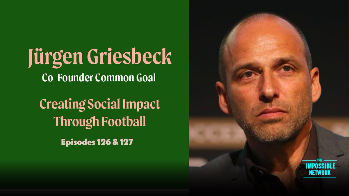 @CommonGoalOrg founder Juergen Griesbeck's wisdom and life experience; launching Common Goal, the importance of avoiding the easy option, the value of collective responsibility, the power of teamwork, being prepared to take risks and trust in your gut and imagination. #commongoal https://t.co/hSkaFMzP7P