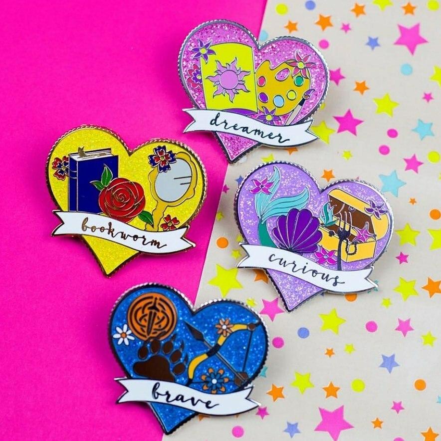 Repost from @foxesintheforestco - What's better than a set of colourful pins? A set of colourful glittery pins!! ✨ . . . .  #brave #disneybrave #disney #disneypixar #pixar #disneyinspired #disneypins #fantasypins #preorder #fantasypin #disneypincolle…