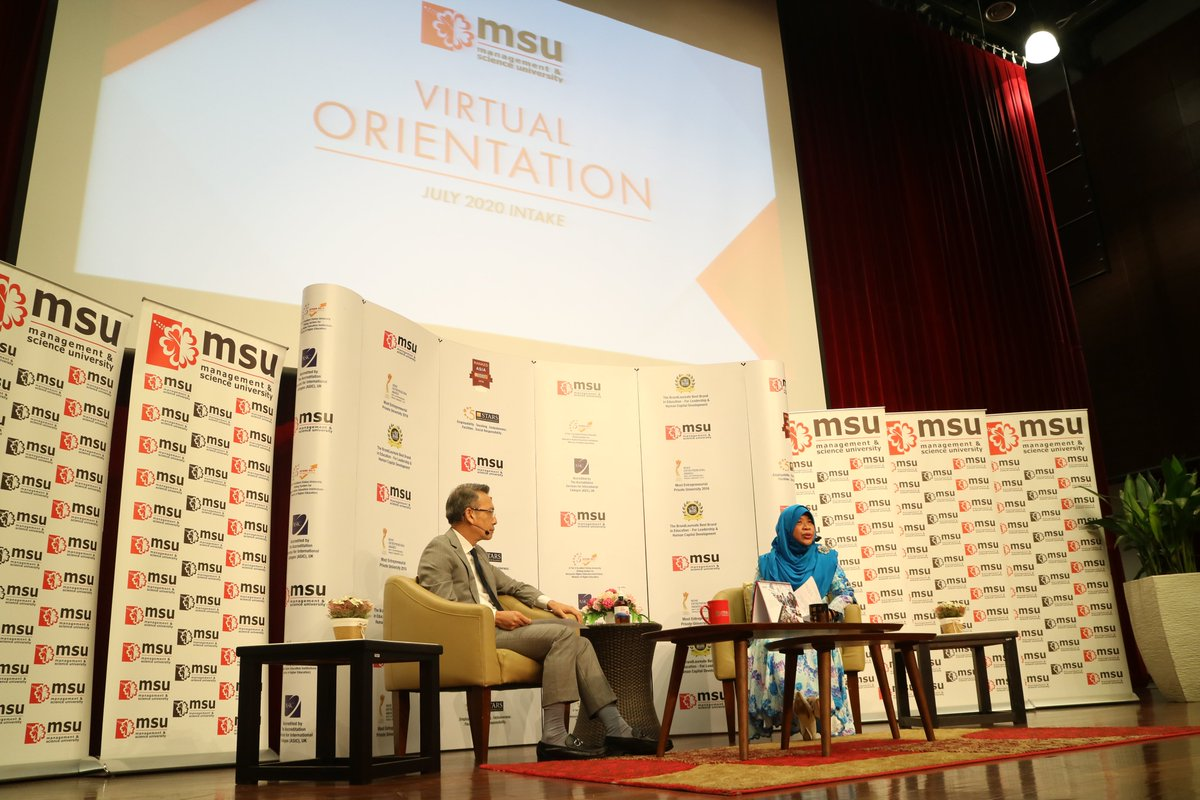Great advice from our Vice-Chancellor Puan Sri Datuk Dr Junainah Abd Hamid on welcoming our new #MSUrians on the day of orientation. @JunainahAH #MSUmalaysia #beMSUrians