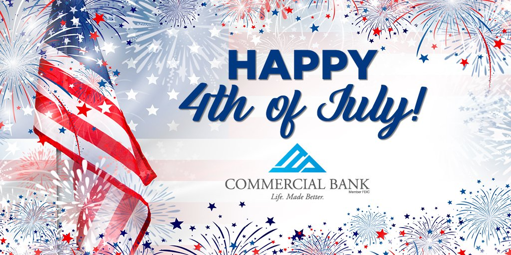 Our branches will be open during regular business hours on Friday, July 3rd. Branches that have drive-thru hours on Saturdays will be closed on July 4th. Have a safe and happy Independence Day weekend! #July4th #LifeMadeBetter https://t.co/R03vZzsAjG