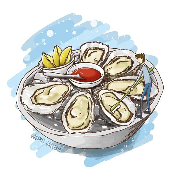 Fresh Oyster - brush is essential (?)  #illustration #foodart #絵描きさんと繋がりたい  Ref: GG-2007-04pic.twitter.com/ufn8lIPMe9