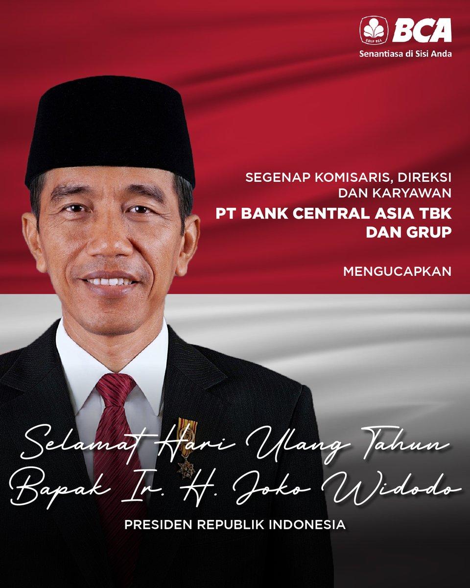 Selamat ulang tahun Bapak @jokowi. Semoga selalu diberikan kesehatan dalam menjalankan tugasnya untuk memberikan yang terbaik bagi bangsa dan rakyat Indonesia. #HBD59Jokowi https://t.co/Ew3drWr0bX