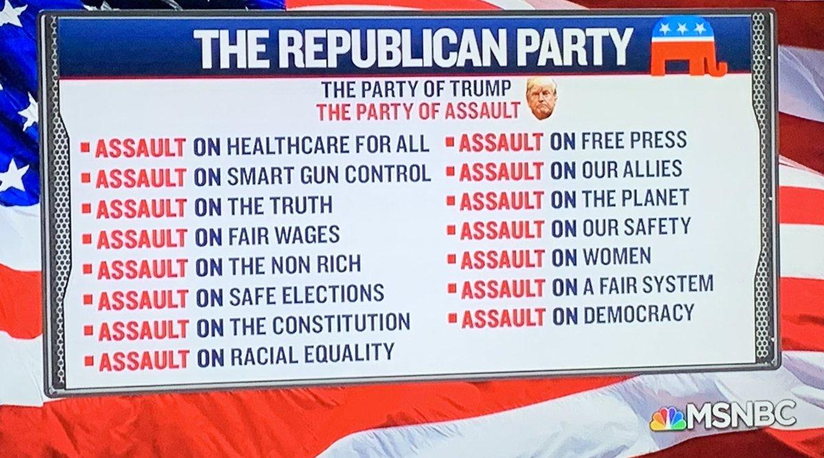 #MAGA #didtrump #TrumpRallyFail  GOP: ATTACKS DEMOCRATS: PROTECT  #magafail https://t.co/iPMWUAcvpf