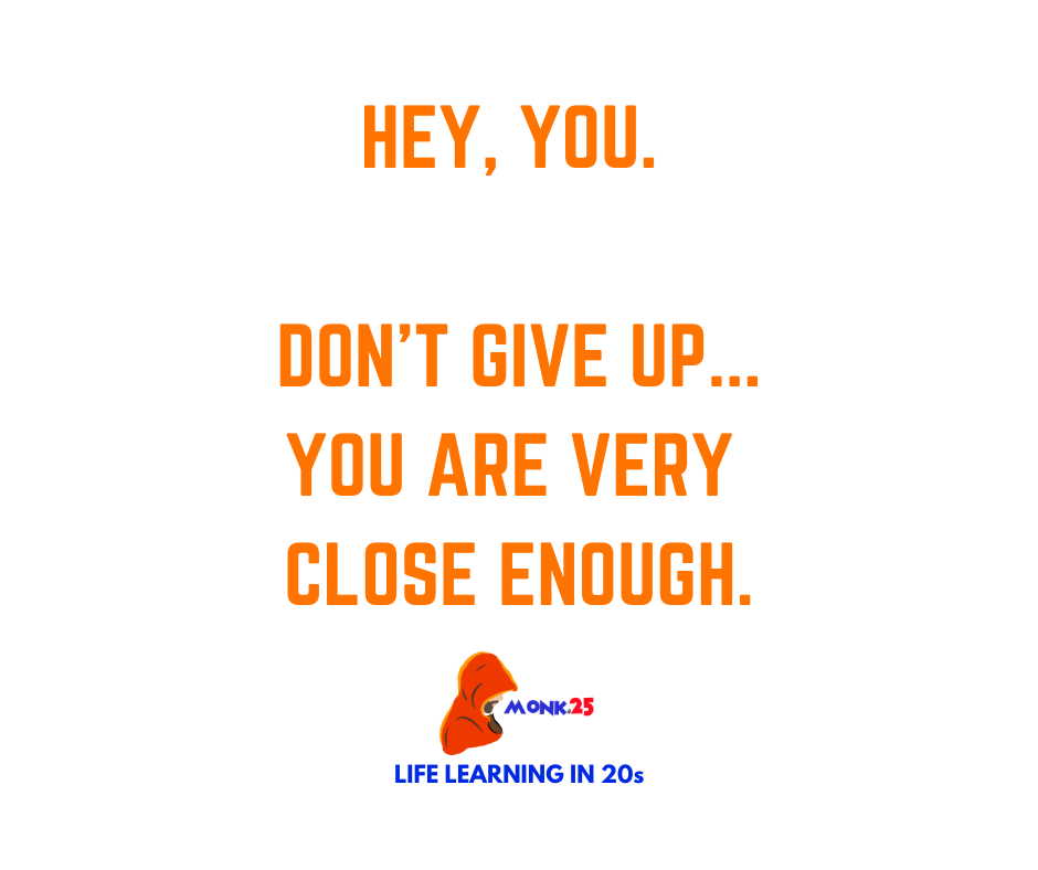 Hey, you. Don't give up..you are very close enough.  . #dontgiveup #trustyourself #Motivation #InspirationalQuotes https://t.co/RA1gu6KkI3