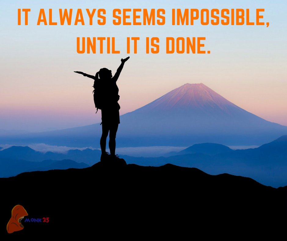 It always seems impossible until it is done. . #successquotes #SuccessStory #trustyourself #KeepPushing #hustlersplatform https://t.co/A1azmBVedz