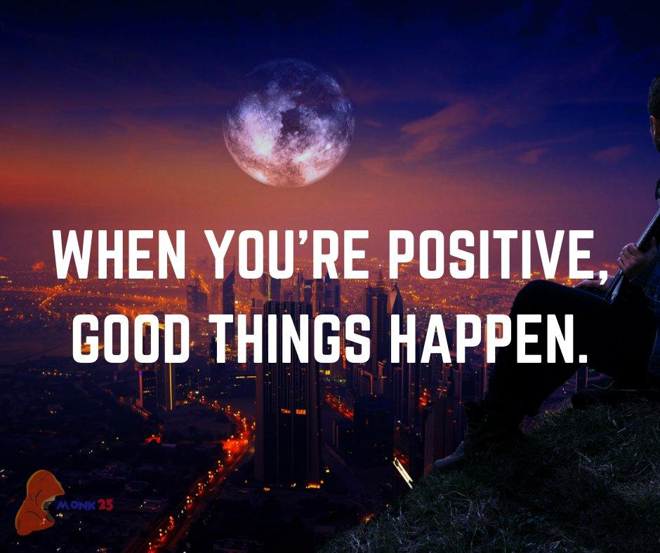 When you're positive, good things happen. . #positive #positiveenergy #positivechange #positivethoughts #positivethinking https://t.co/IZUW5j0V48
