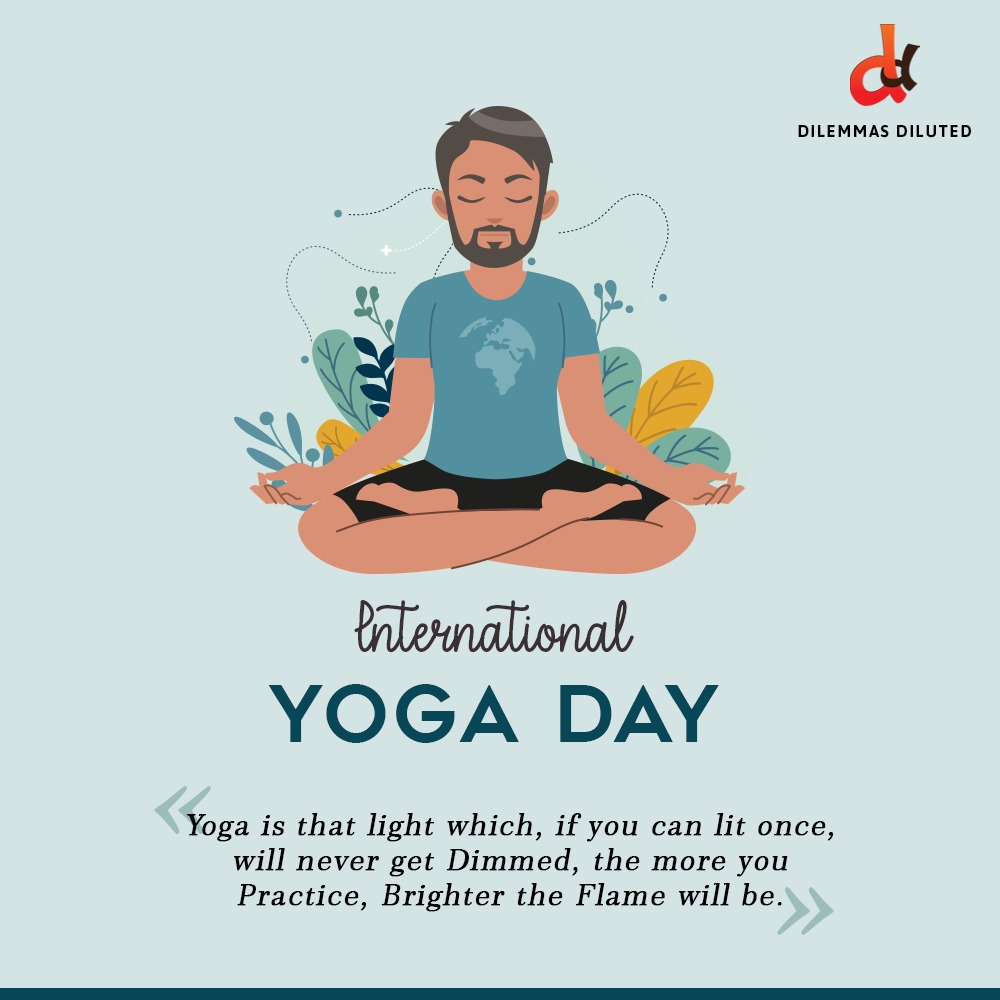 This #internationalyogaday, let's pledge to prioritize your physical and #mentalhealth by practicing yoga for a few minutes every day.. Wishing you the best of health on International Day of Yoga from team Dilemmas Diluted.   #exercise #meditation #health #yogaday #yogaday2020 https://t.co/uuoLGakUWu