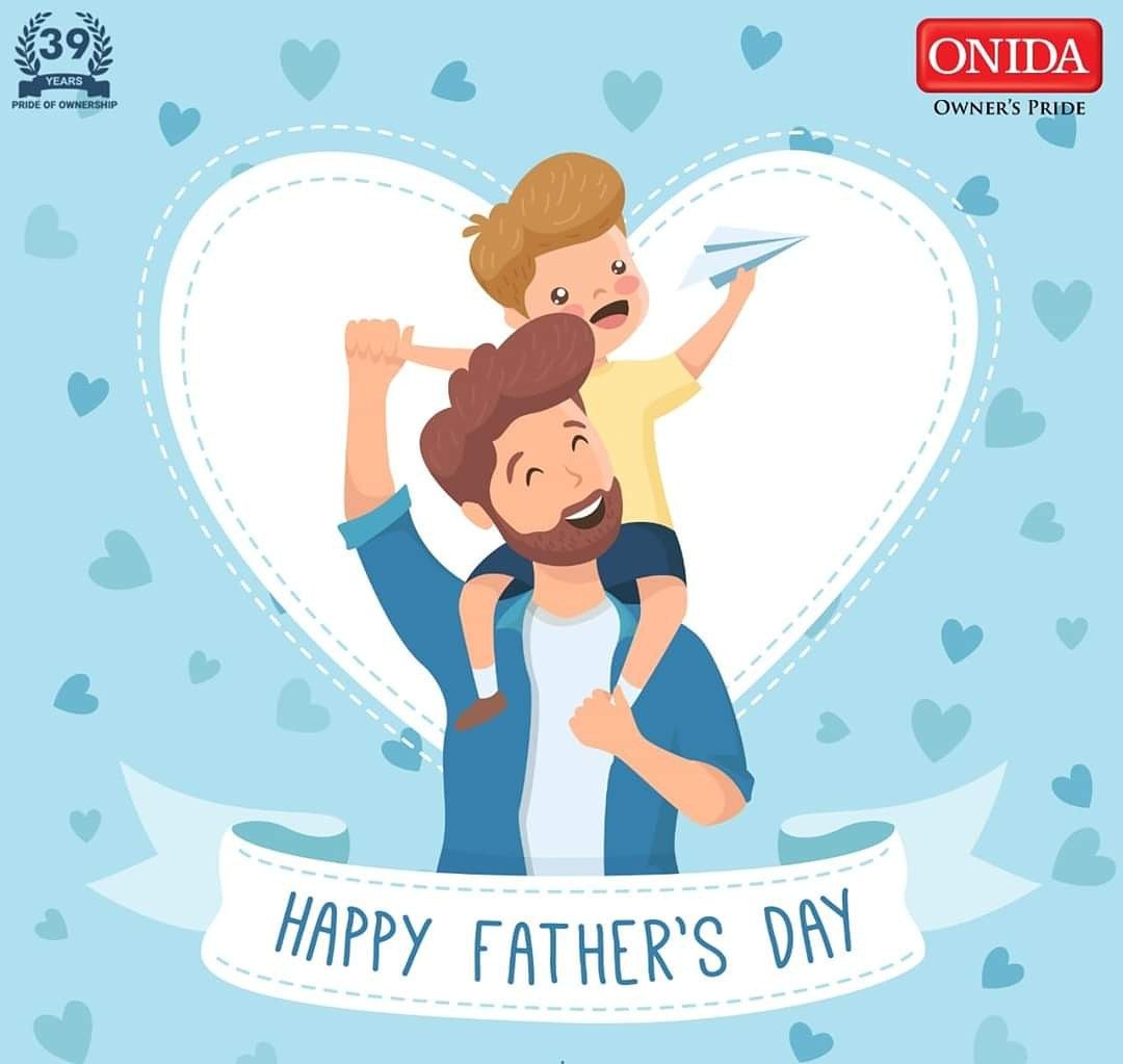 """For the men who has given us the best things in life: their time, their care, and their love. We are truly grateful to have you'll in our lives. Happy Father's Day!"""" #Onida #HappyFathersDay #IndiaKaOnida #IndiaKaPapa https://t.co/Cc3k9vGBnI"""