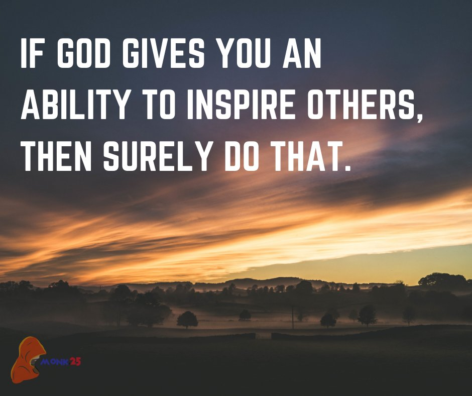 If god gives you an ability to inspire others, then surely do that. . #God #positivethinking #mentalhealth #helpingothers #growthmindset #StayHappy https://t.co/jmbepocvmY