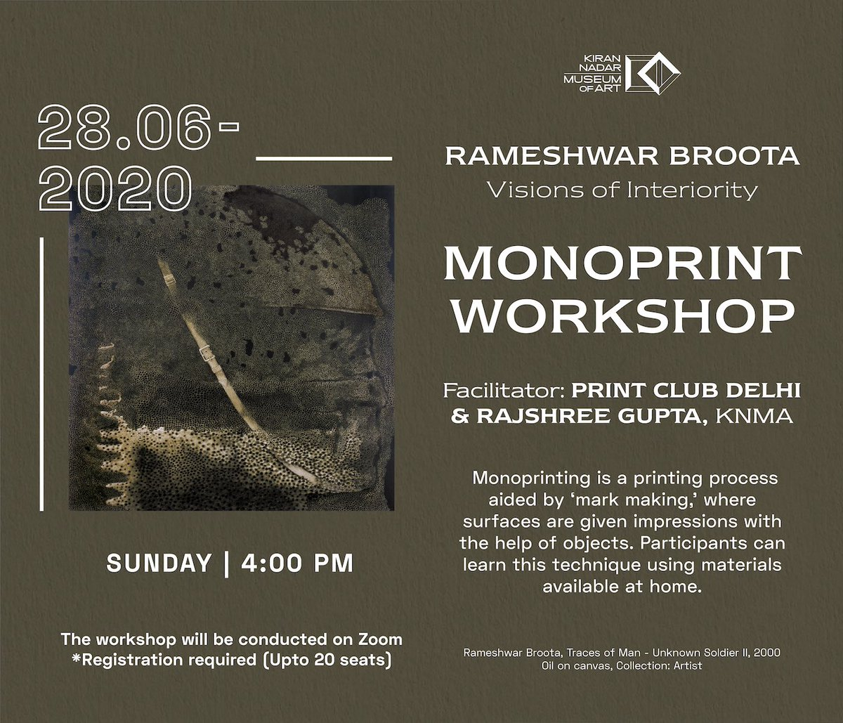 Monoprint Workshop Join us for a workshop on monoprinting using materials available at home.