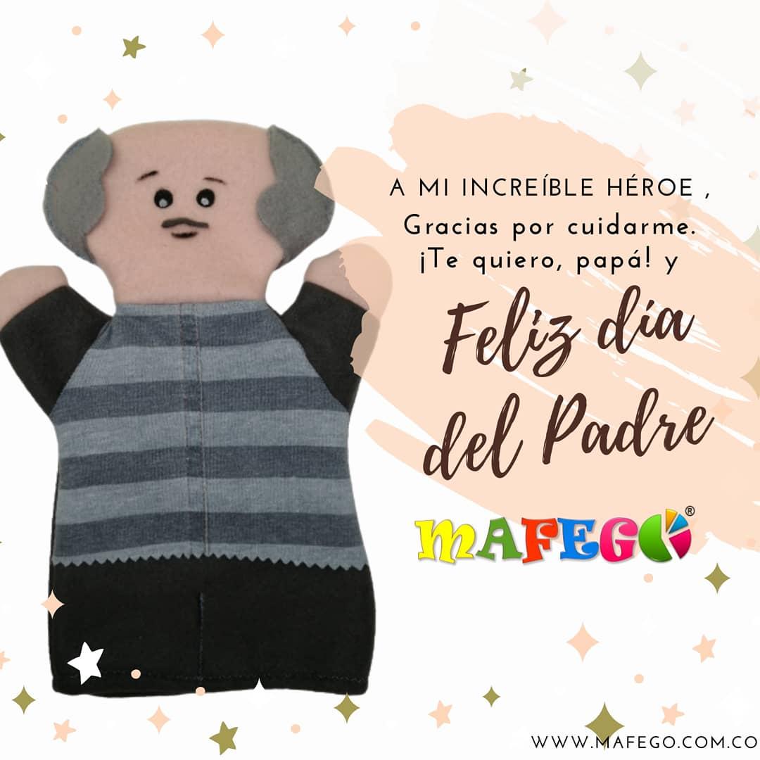 Papá 🧔🧒👴🏻Porque más que con tus consejos me has guiado con un gran ejemplo. . Feliz día 🥳 #felizdiapapá 🎊♥️ #Mafego #Colombia #didácticos #madera #títeres https://t.co/1nvZsO2VUE