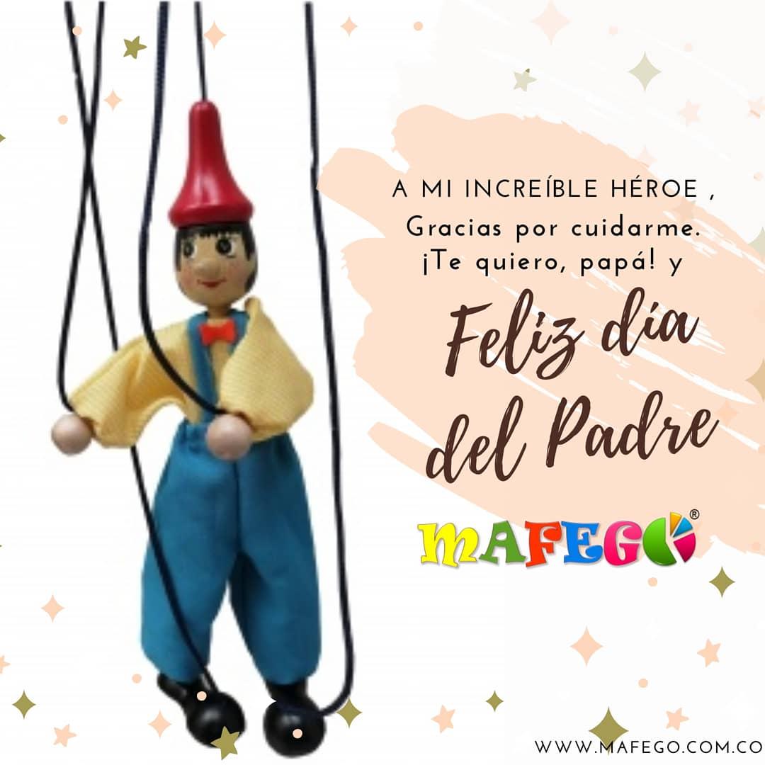 Papá 🧔🧒👴🏻Porque más que con tus consejos me has guiado con un gran ejemplo. . Feliz día 🥳 #felizdiapapá 🎊♥️ #Mafego #Colombia #didácticos #madera #títeres https://t.co/N1UQjsyuKl