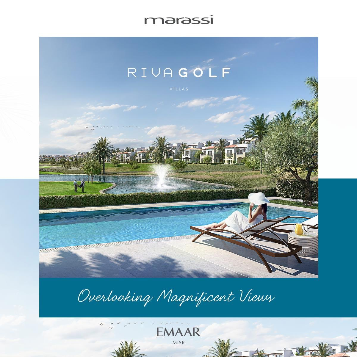 Surround yourself with vibrant views at Riva Golf, featuring fully finished homes overlooking Marassi's lush golf course. Own your home now! #Emaar #EmaarMisr #Marassi https://t.co/I903avi31W