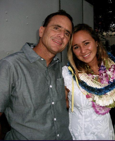 Foto di Carissa Moore  & il suo Padre  Chris Moore