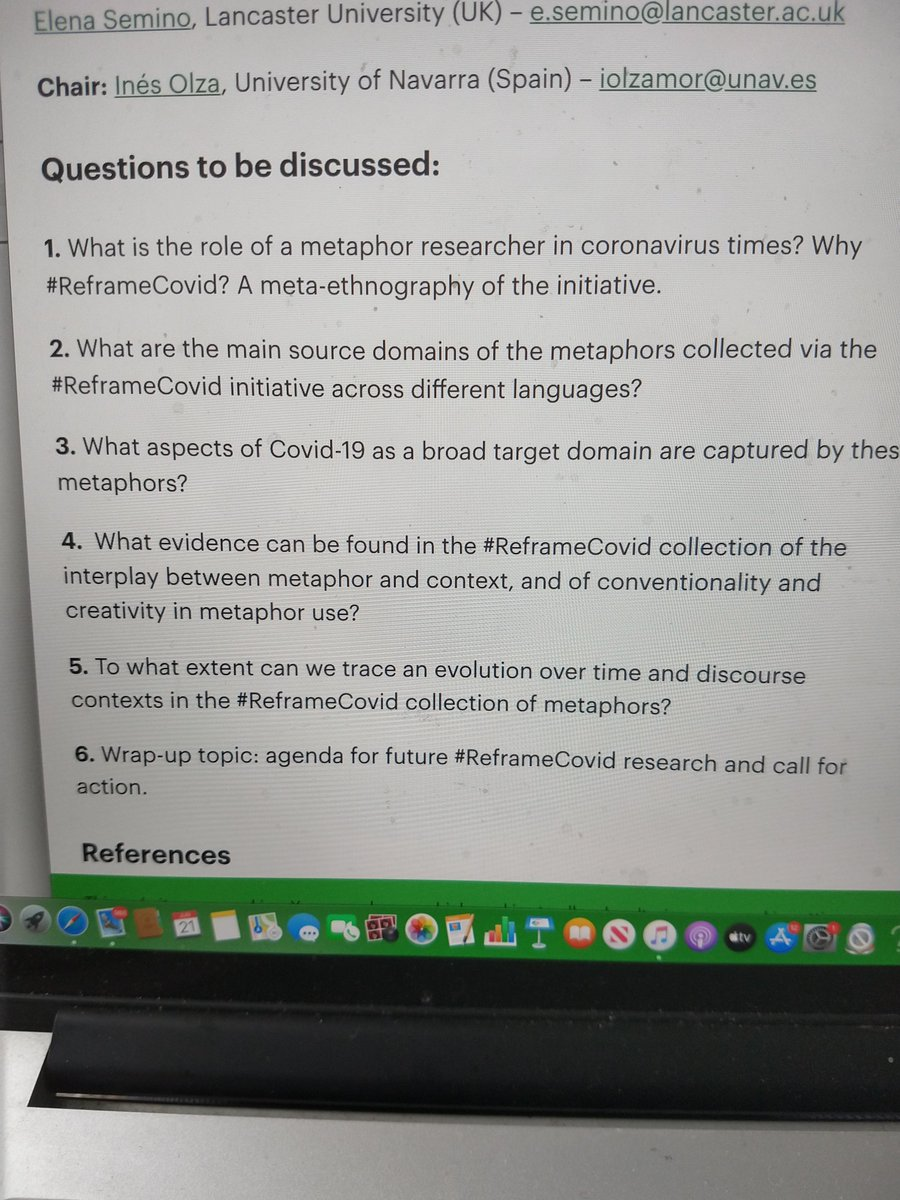 Questions to be discussed at #ReframeCovid round table @RaAMconf This is going to be good! #2020INNmetaphor