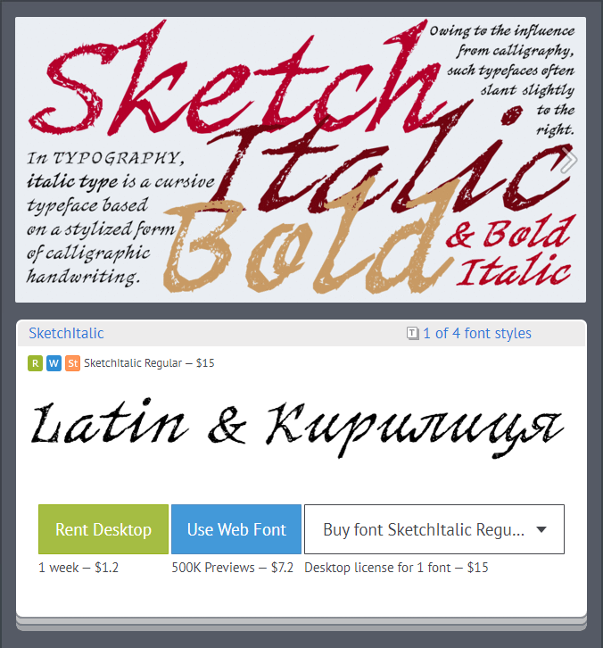 Rentafont On Twitter New Typeface Sketch Italic 4 Fonts By Shedrik Https T Co Id7hqm1dds Desktop Rent From 0 To 2 Web Font Service From 2 40 Desktop License From 15 Font Family