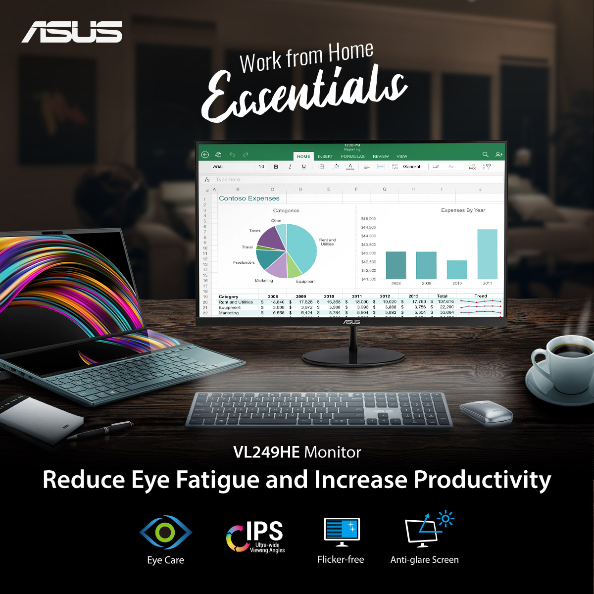 Keep your work from home tech set-up simple: a PC or laptop and a monitor that cares for your eyes. #WorkFromHome #WFH #SafeAtHome  Choose your Eye Care Monitor here: https://t.co/0dgdnSfdXC https://t.co/C2CGg0oAN6