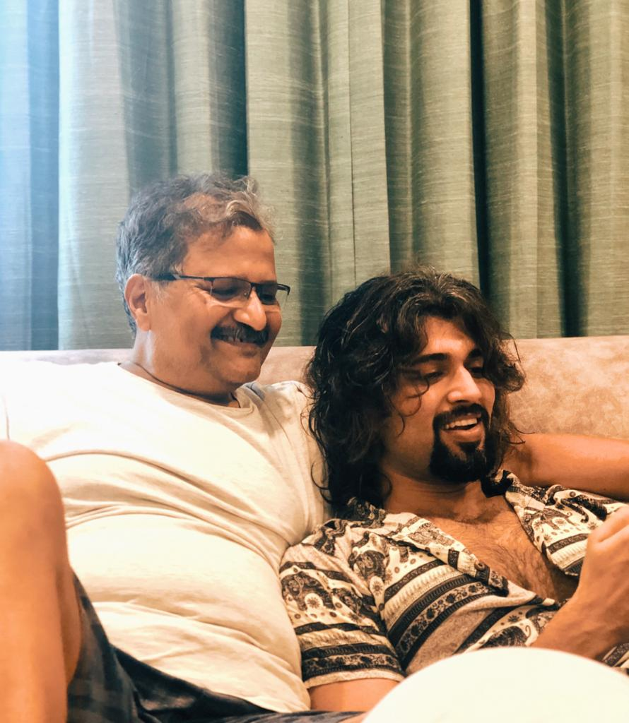 """""""I am with you.""""  Is all he says everytime to my decisions, mistakes, risks, adventures and wars I take on. The first Deverakonda -   Happy Father's Day Daddy - I love you ❤️ https://t.co/sQMB1JRAWq"""