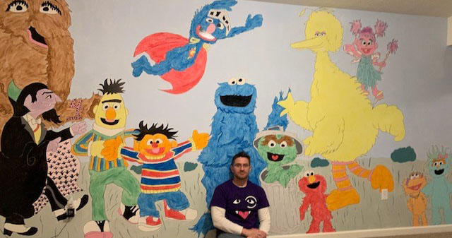 Entertaining the kids has become even more challenging as we work together through this pandemic. This #FathersDay, we celebrate dads who spread joy, like our very own Andrew D. who created this @SesameStreet mural for his two lucky girls! https://t.co/qafy0DLUER