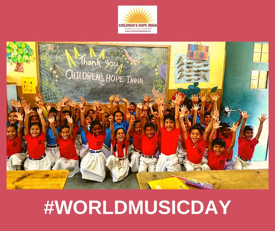 Children's Hope India joins @rickykej @UNICEFIndia and @UNICEF in celebration of #WorldMusicDay2020. #childrenshopeindia https://t.co/pUkcOSw4RE