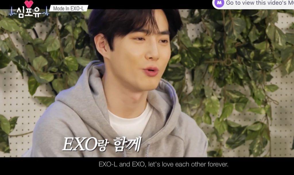 🥺🥺Kim Junmyeons love for EXOLs😭😭😭   We miss you too leader-nim ❤️❤️❤️  Made in You 🥰🥰🥰 #심포유 #Heart4U #Heart4U_SUHO #수호 #SUHO #EXO @weareoneEXO https://t.co/HyKuXkf5AM