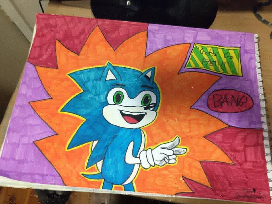 My attempt 🦔🦔🦔 #SonicRedraw #SonicRedrawChallenge @sonic_hedgehog