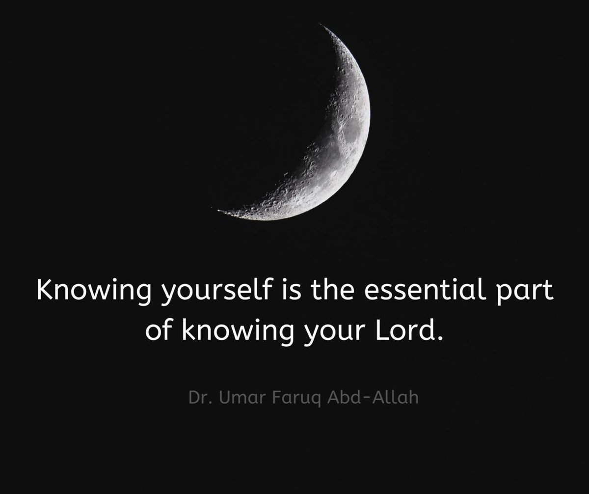 Knowing yourself is the essential part of knowing your Lord. https://t.co/Bkvr8aSwMG