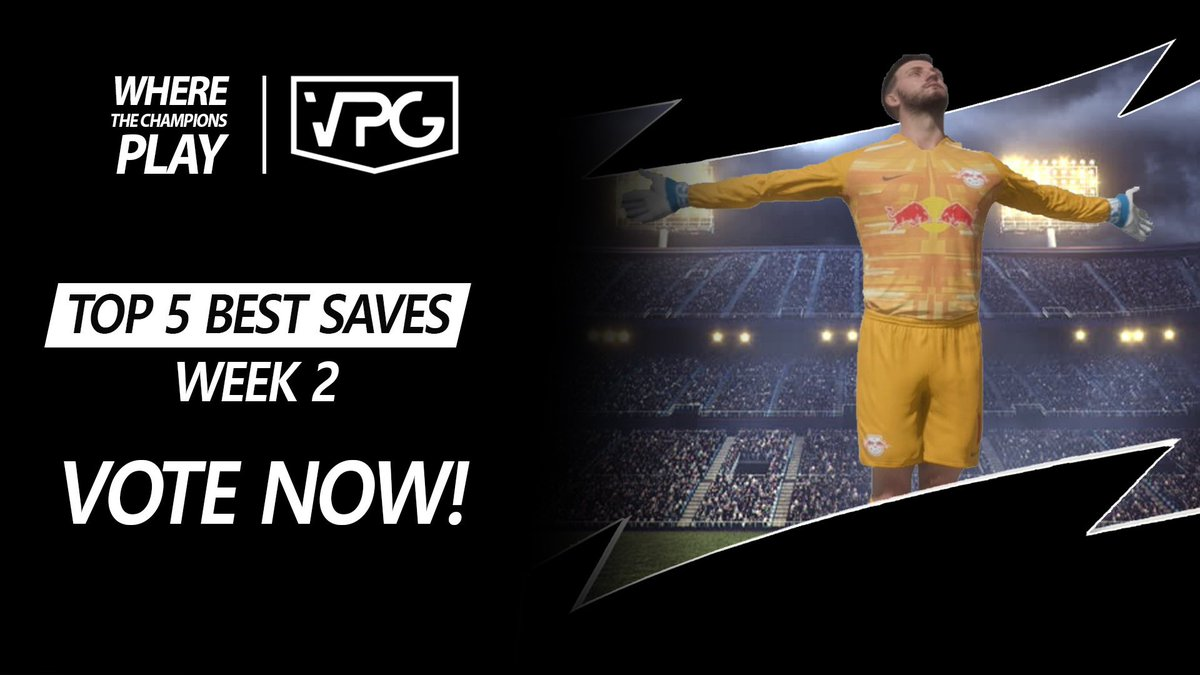 🏆| Top 5 Best GK Saves 🧤  🗓| Week 2 ✅| Vote for your winner!   Save 1: @UneXFIFA  Save 2: @StrenuaProClub  Save 3: @VPasspassgoal  Save 4: @DaleEsports @officiallydale  Save 5: @SCFCeSports @SalfordCityFC   👉🏼 https://t.co/CLwiv7J1xI  #FIFA20 #ProClubs https://t.co/t0SfVPXgrp