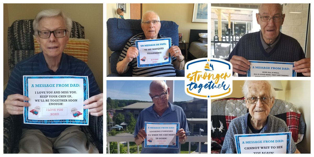 Alvin, Ray, Cyril, Alf & Gerhard, residents at #GeorgianResidences at #GeorgianVillage in @penetanguishene wanted to send a #fathersday message to their fellow #dads. #strongertogether #happyfathersdaypic.twitter.com/1Sb4bGHFbr