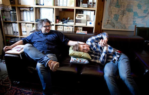 Happy #FathersDay to all the dads out there, including this rockin' dad and son duo, @JeffTweedy and Spencer Tweedy! Looking forward to a day when we can welcome @Wilco fans back in our seats. (📸: New York Times) https://t.co/seKMZsRShe