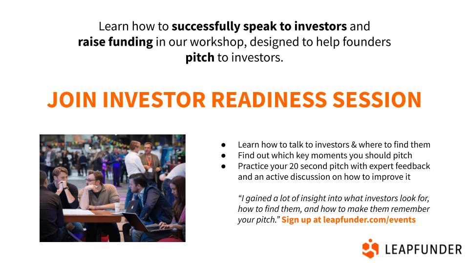 Did you ever struggle talking to Business Angels? Learn how to successfully speak to #investors and raise #funding! Join our online Investor Readiness Session on September 21! Register here: https://t.co/FYMTVm2smC https://t.co/IaV2KpKCbj