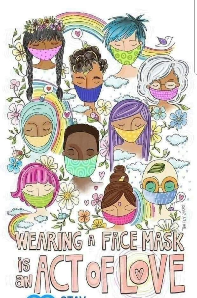 Wearing a face mask is an act of love