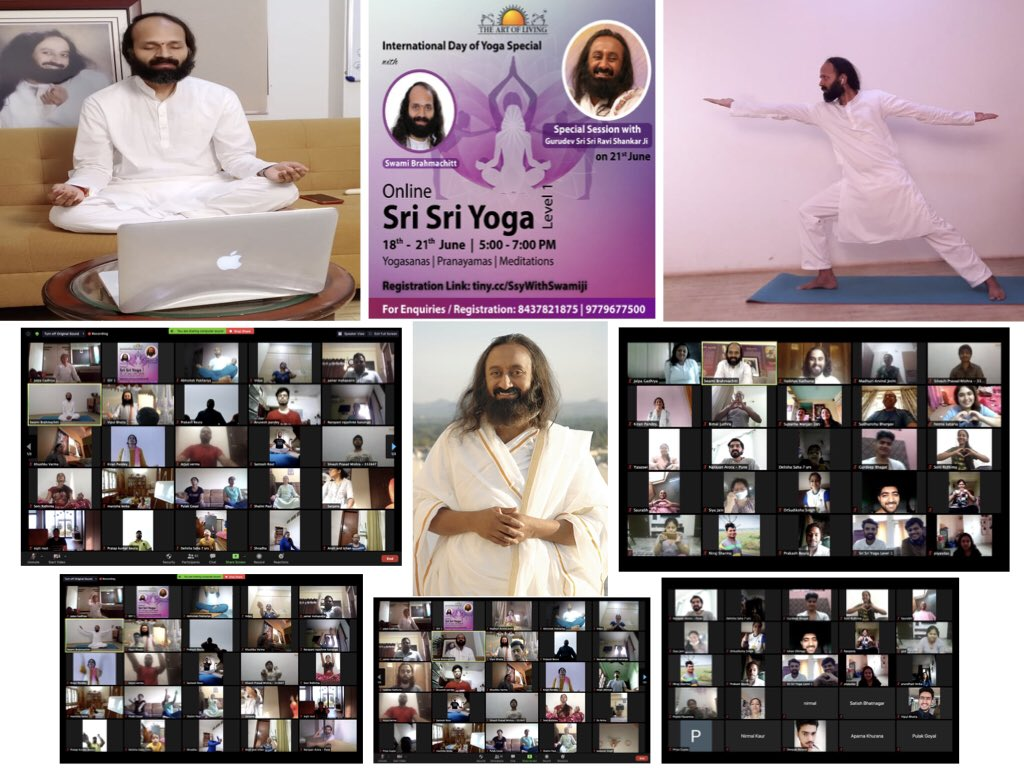 Concluded #InternationalYogaDay special Online Sri Sri Yoga program with 81 participants, with special session with Gurudev @SriSri.  Organised in just 2 days, showed dedication and grace of the master can make anything possible.  #YogaForHumanity #WorldMeditates https://t.co/UVHOJNFMUI