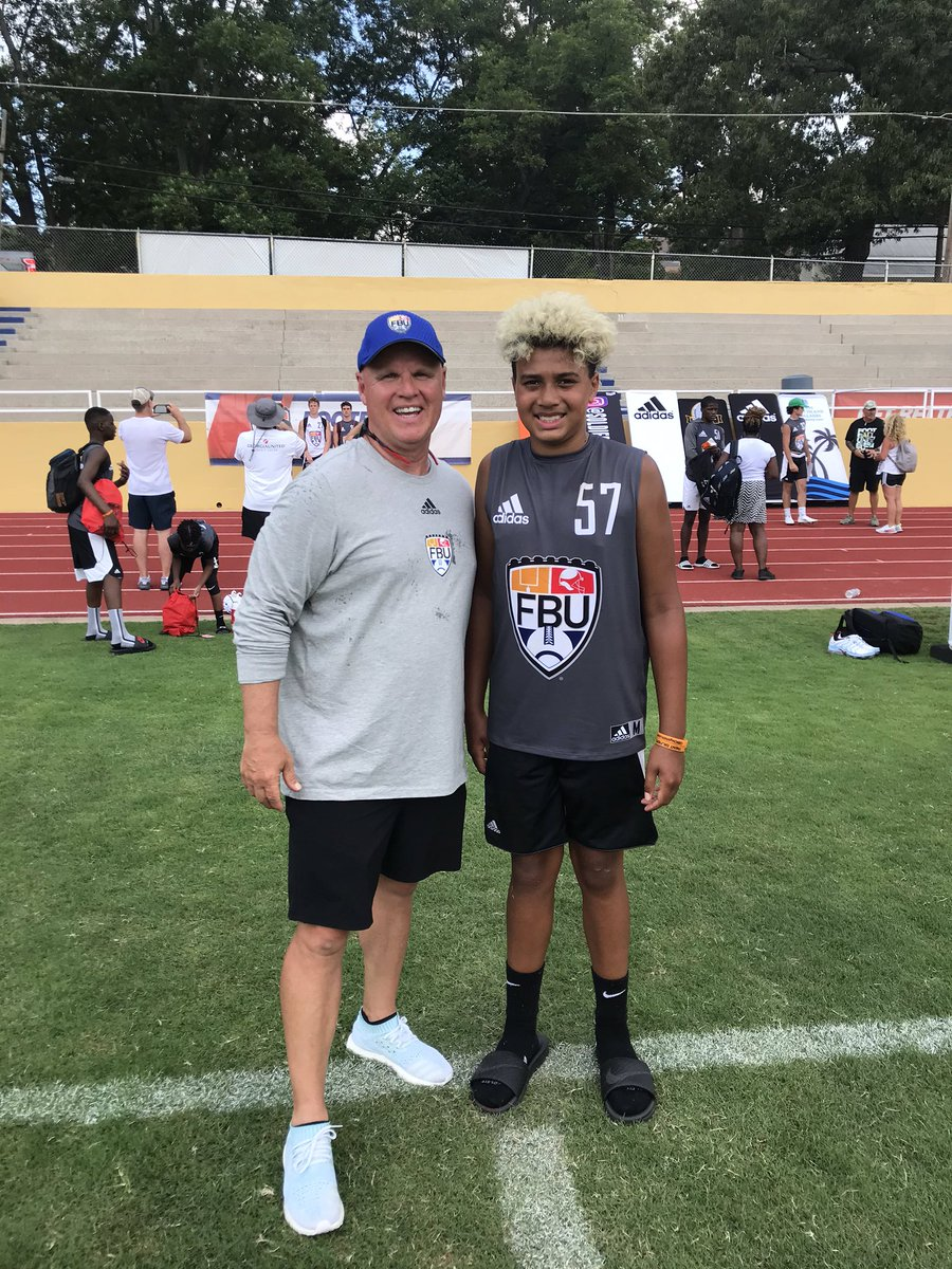 Thank you @FBUcamp @ErikRichardsUSA for a great camp! CJ's 1st but not his last. Amazing coaches! https://t.co/lernsLvcBn