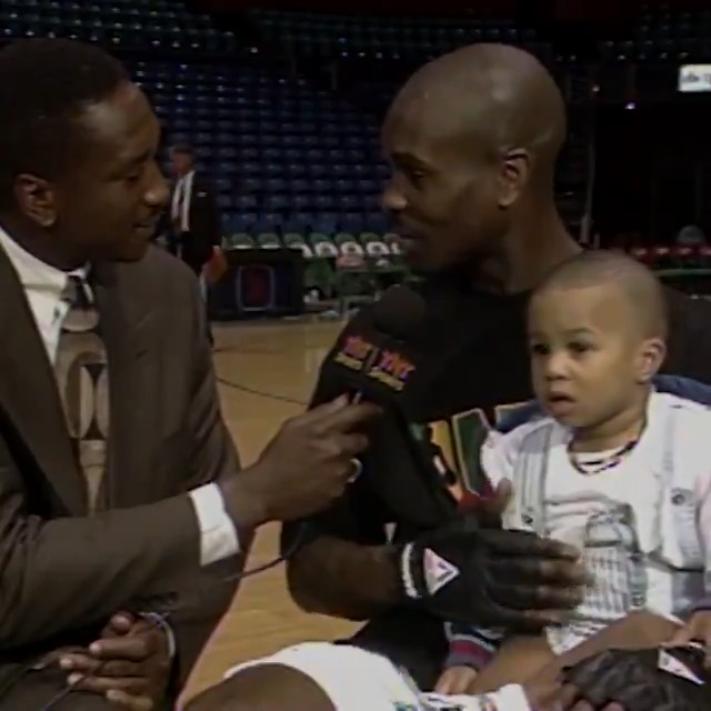 With Gary Payton II is his lap, Gary Payton talks about his son's future. #FathersDay https://t.co/Vr2BoLqrf7