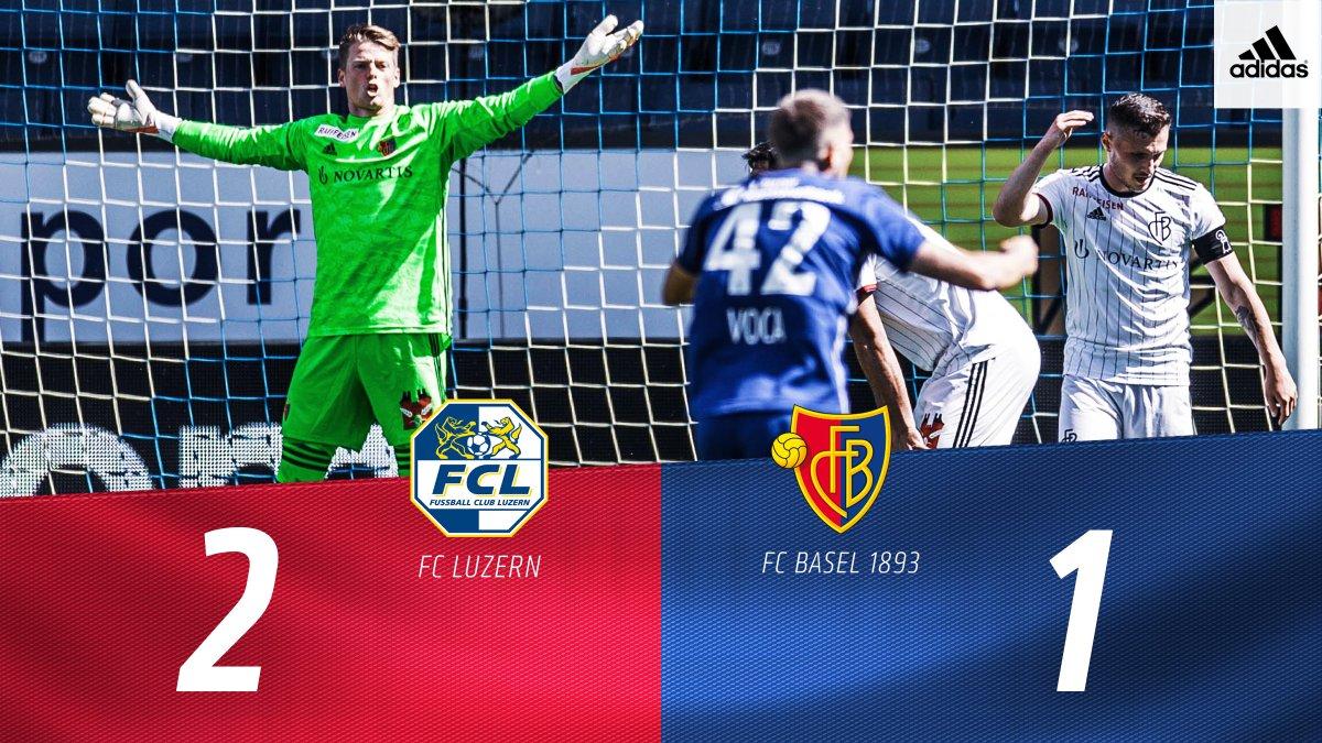 Wir holen leider keine Punkte in Luzern. #restart #FCBasel1893 #zämmestark #rotblaulive https://t.co/oqRwVFjgyF