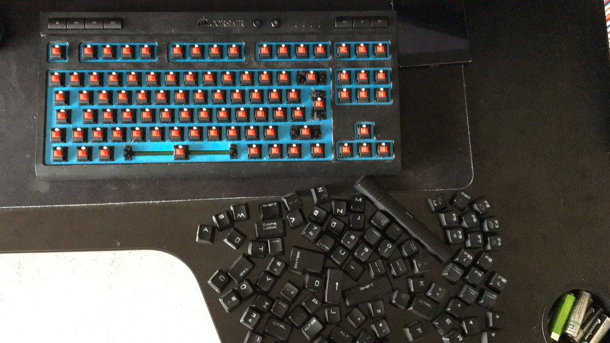 Giving the @CORSAIR keyboard a clean