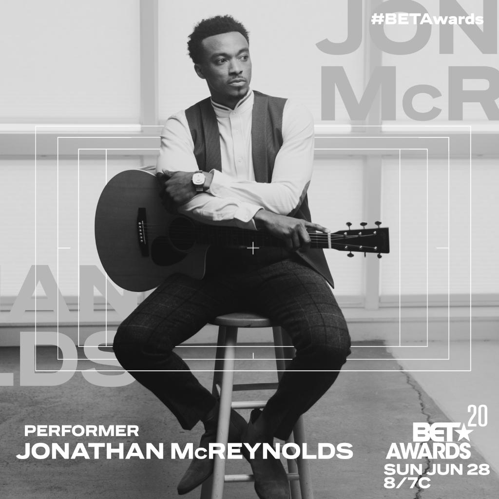 Next Sunday, @jonmcreynolds will bring a word to the #BETAwards! 🙏🏾 Catch his performance next Sunday 8/7c! https://t.co/wKNLASw24G