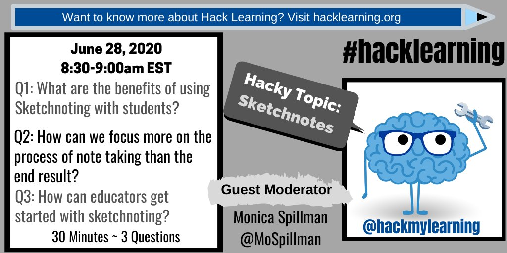 Q3: How can educators get started with sketchnoting? #HackLearning