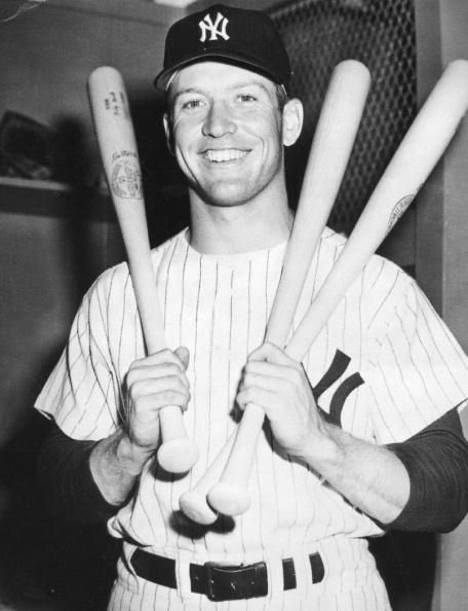 My dad was a righty & granddad a lefty. I batted lefty against my dad & righty against my granddad. -Mickey Mantle on learning to switch hit