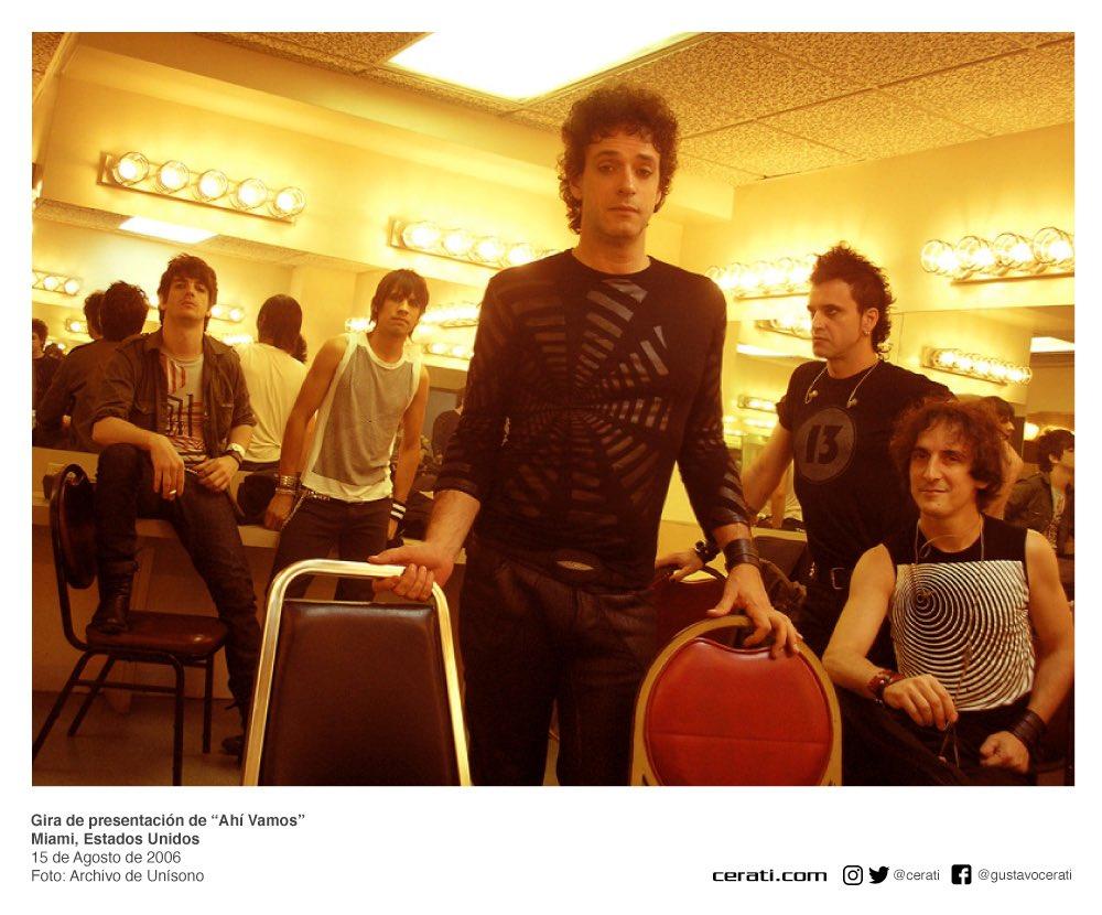 """Gira de presentación de """"Ahí Vamos"""" Miami, Estados Unidos 15 de Agosto de 2006 Foto: Archivo de Unísono https://t.co/hB4zDT54oS"""