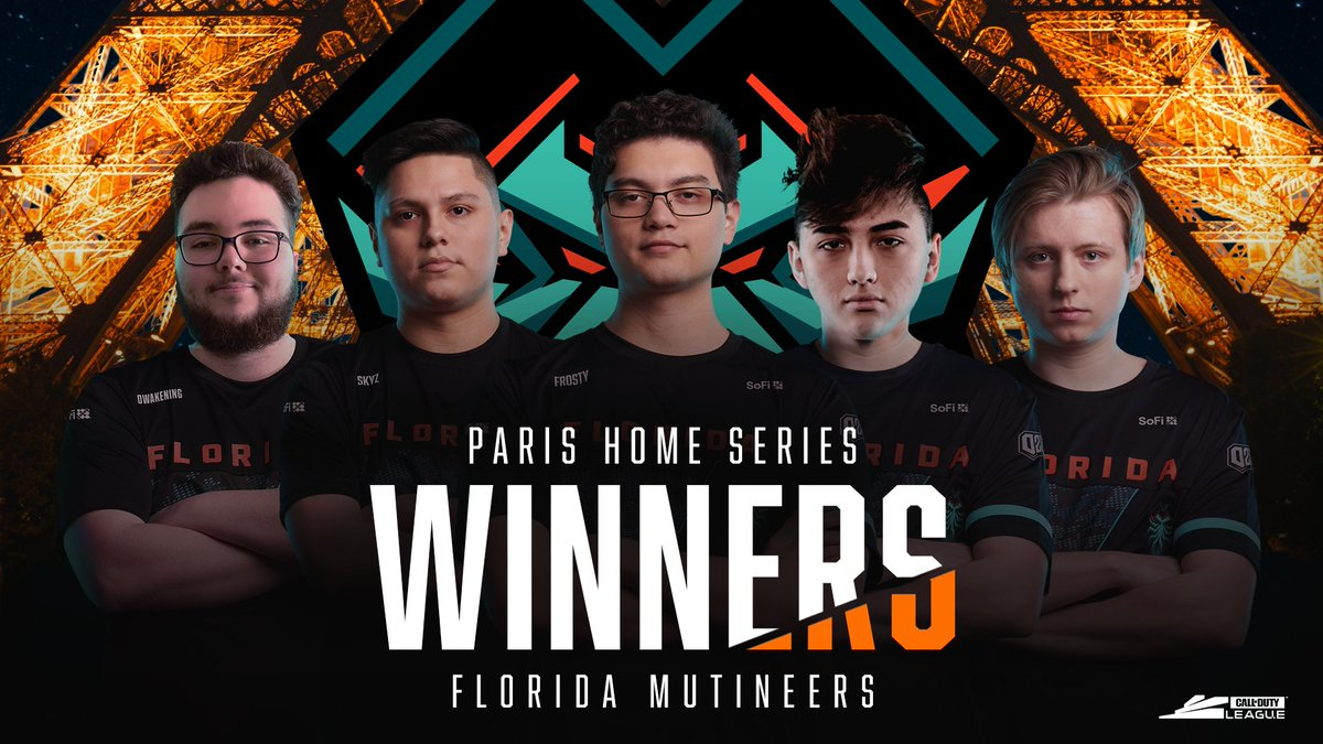 BACK-TO-BACK: Florida @Mutineers claim victory at the Paris Home Series! @Owakening @CesarSkyz @FrostyBB @f3rocitys @ColtHavok They are the first team to hit three Home Series wins! #FearTheDeep #CDL2020